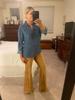 Suede Bell Bottoms