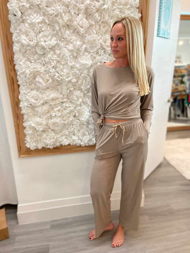 Ribbed Lounge Two-Piece Set