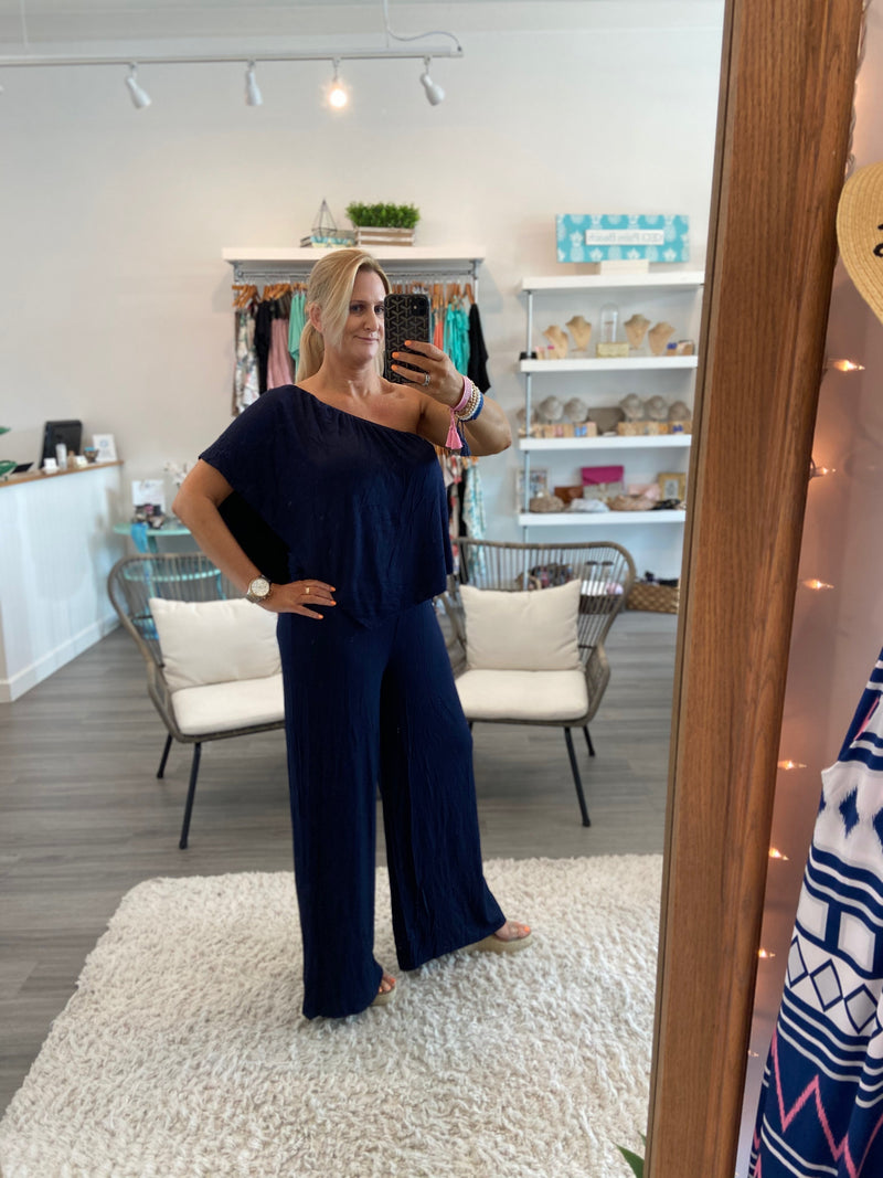Navy Convertible Jumpsuit
