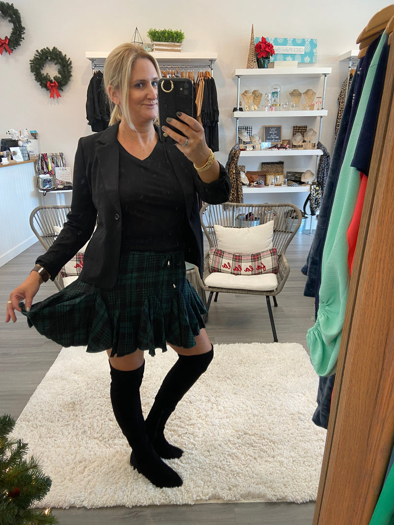 Jolly Plaid Skort
