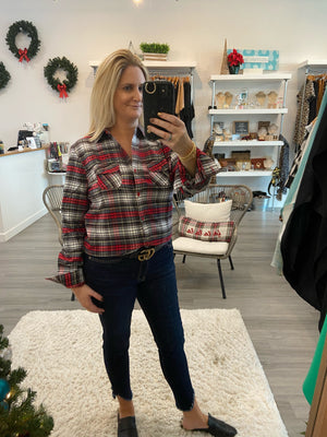 Holly Jolly Plaid Top