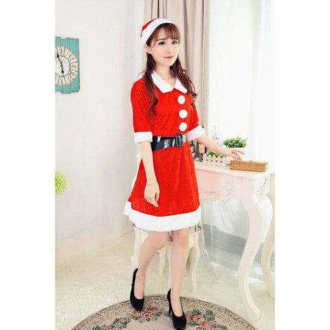 ... 2017 Best Sale Women Sexy Santa Christmas Costume Fancy Dress Xmas  Office Party Outfit womens clothing f0e907908