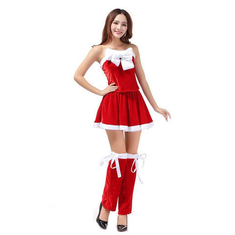 ... 2017 Top Fashion Women Sexy Santa Christmas Costume Fancy Dress Xmas  Office Party Outfit red dress 0e57d0e2c899