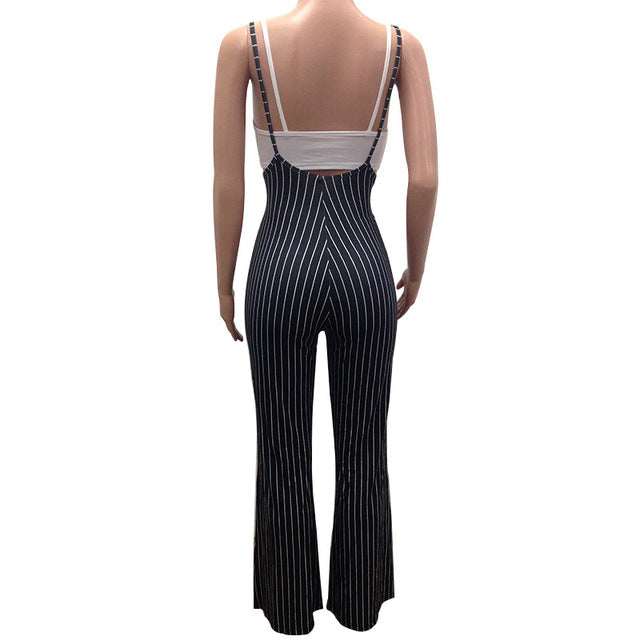 49d7b4401dd9c 2018 Autumn Women Two Piece Set Jumpsuit and Crop Top Ladies 2 Pcs Set  Outfits Casual Rompers Female Overalls