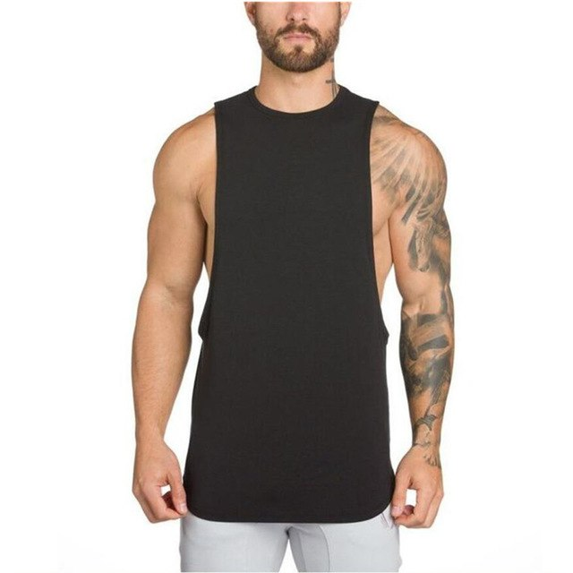 69e3dbca 2018Hot Gyms Clothing Bodybuilding Tank Top Men Fitness Singlet Sleeveless  Shirt Cotton Muscle Golds Mens Boy Vest