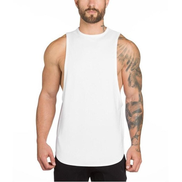 fcb507b3b34e10 2018Hot Gyms Clothing Bodybuilding Tank Top Men Fitness Singlet Sleeveless  Shirt Cotton Muscle Golds Mens Boy