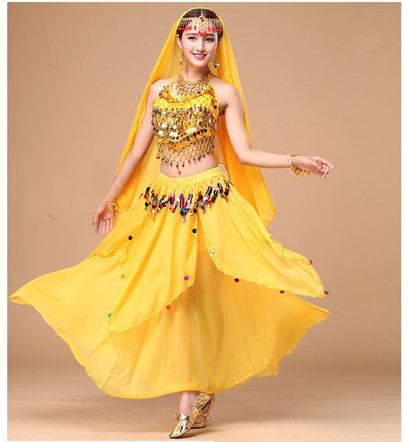 a4c7de1c66 3Pcs Performance Belly Dance Costume Bollywood Costume Indian Dress  Bellydance Dress Belly Dancing Costume Sets