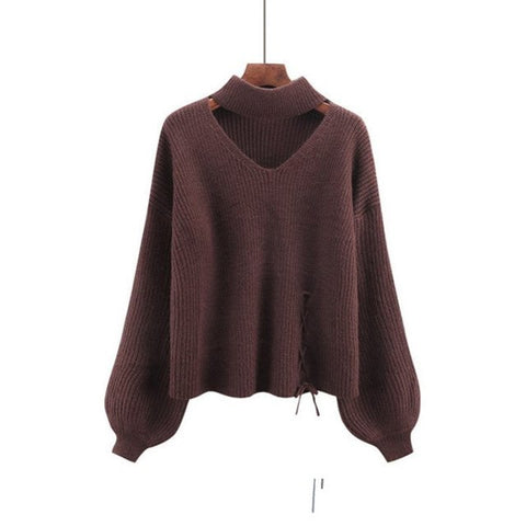 Autumn Winter Knitted Sweater Women Jumper Knitwear Pull Femme Hiver Long  Sleeve Pullover Turtleneck Sweater C4997.  70.87 15f178a02706