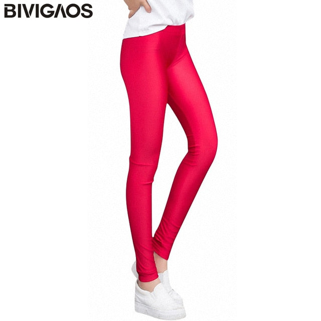 2f79c6a489692 Summer Spandex Ice Silk Leggings Thin Slim Skinny Leggings Pants Glossy  Legging Fitness Multicolor Stretch Pants Women