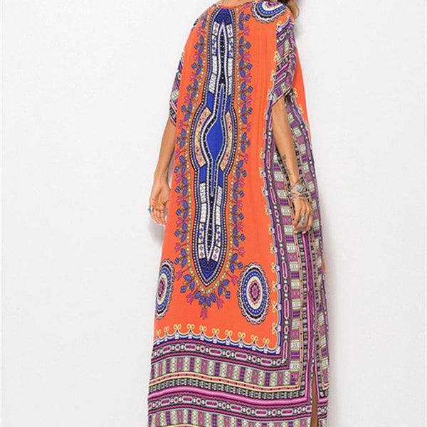 12461980155 2018 Spring Summer Long Print Dress African Traditional Indie Folk Dre -  Hdy Apparel