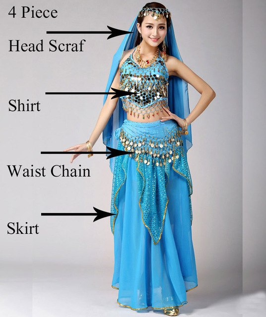74d533e6c6ad Belly Dance Costume Set Bellydance Performance Gypsy Indian Dress Dancewear  Coin Belly Dance Bollywood Dance Costumes