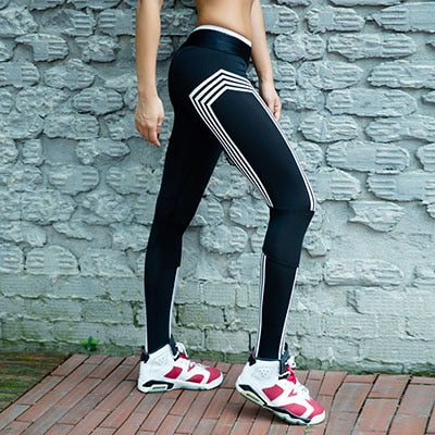 11b4da4e3a8771 Black White Patchwork Leggings Women Mesh Splice Pants Legging Plus Size  Sporting Fitness Styles Elastic Workout Trousers