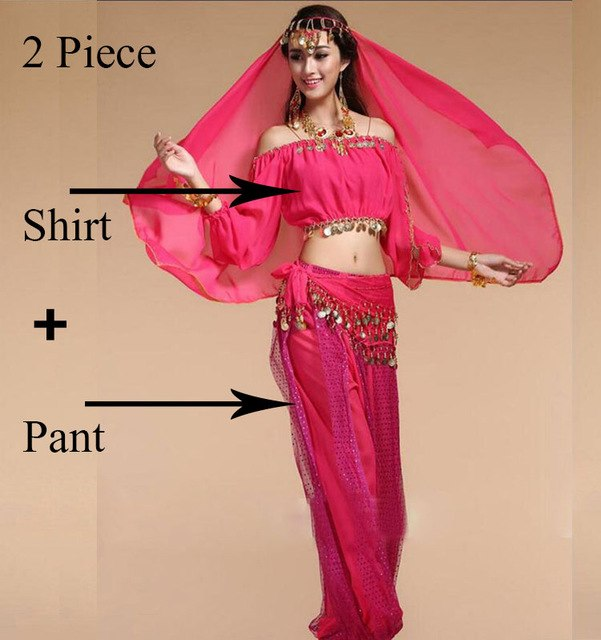 df5b9c84a8188 Bollywood Dance Costumes Indian Belly Dance Costumes Set Chiffon Bollywood  Orientale Belly Dance Costume Set Woman