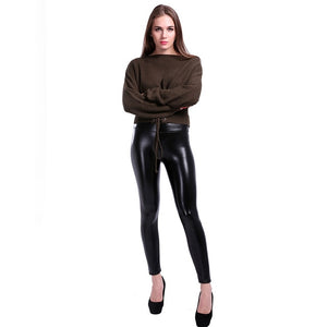 1d0e926b9d S-5Xl Women Winter Warm Leather Pants Plus Size Velvet Pant High Waist  Trousers Women Thick Stretch Pantalon Femme