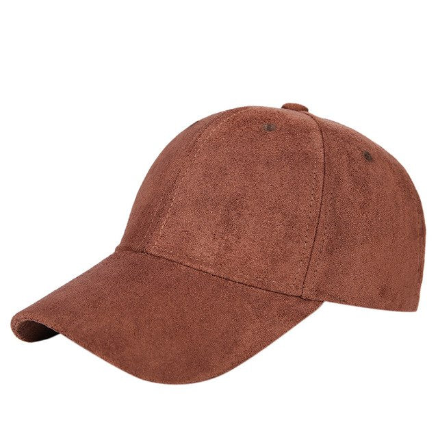 f67999cb0 Casual Streetwear Solid Color Women Baseball Cap With Adjustable Fastner  Boys Mens & Ladies Winter Suede Hat Gorro #C