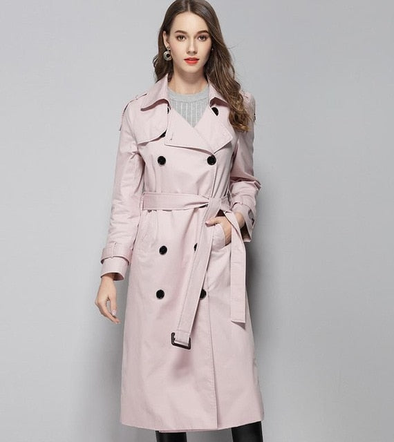40b5e5591 Trench Coat Double Breasted Winter Trench Coats Woman Plus Size Long ...