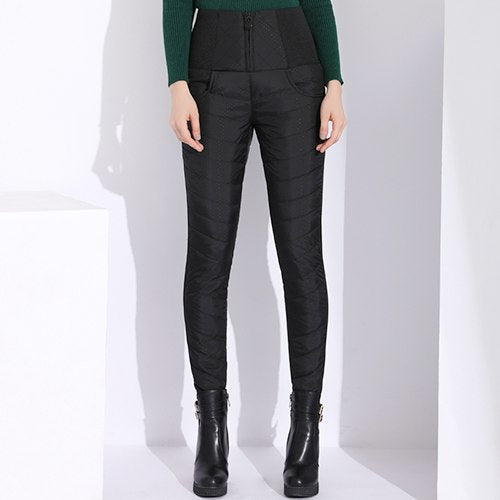 b0de7c42544f9 Casual Warm Pants Women'S Trousers Elastic Waist Large Size Skinny Women  Winter Pants Autumn 2019