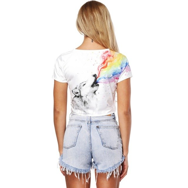 13bdef95cda3 Harajuku Pineapple Print O-Neck Short Sleeved T-Shirt Women Summer White T  Shirts