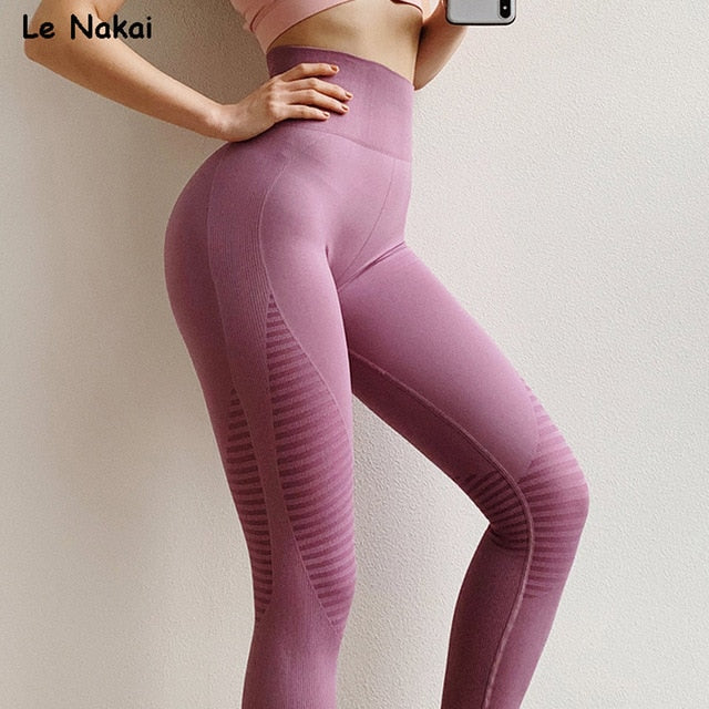 4420024673521 High Waisted Moto Seamless Leggings Scrunch Butt Yoga Pants Energy Seamless  Workout Legging Pink Fitness Gym Tights