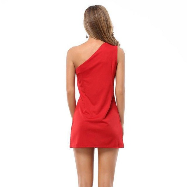 Woman Clothing Irregular Hollow Sleeveless Strapless Club Dresses Plus Size  Package Hip Dress