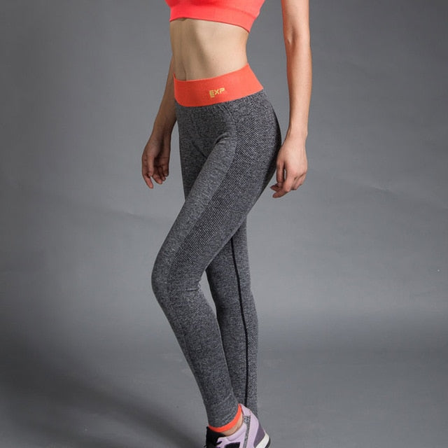 8b10ce402 Move Sex High Waist Stretched Sports Pants Gym Clothes Spandex Running  Tights Women Sports Leggings Fitness Yoga Pants