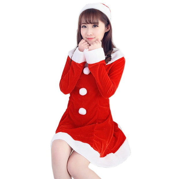 Christmas Fancy Dress Funny.Newbeautiful Cheap More Funny Women Sexy Santa Christmas Costume Fancy Dress Xmas Office Party Outfit Red Winter Dress Vestidos