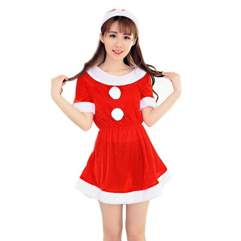 NewHigh Quality Women Sexy Santa Christmas Costume Fancy Dress Xmas Office  Party Outfit womens clothing roupas ... 6c1109b44605