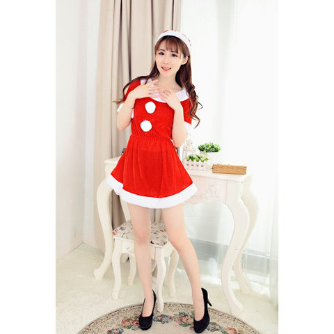 ... NewHigh Quality Women Sexy Santa Christmas Costume Fancy Dress Xmas  Office Party Outfit womens clothing roupas fcf66c2b028e