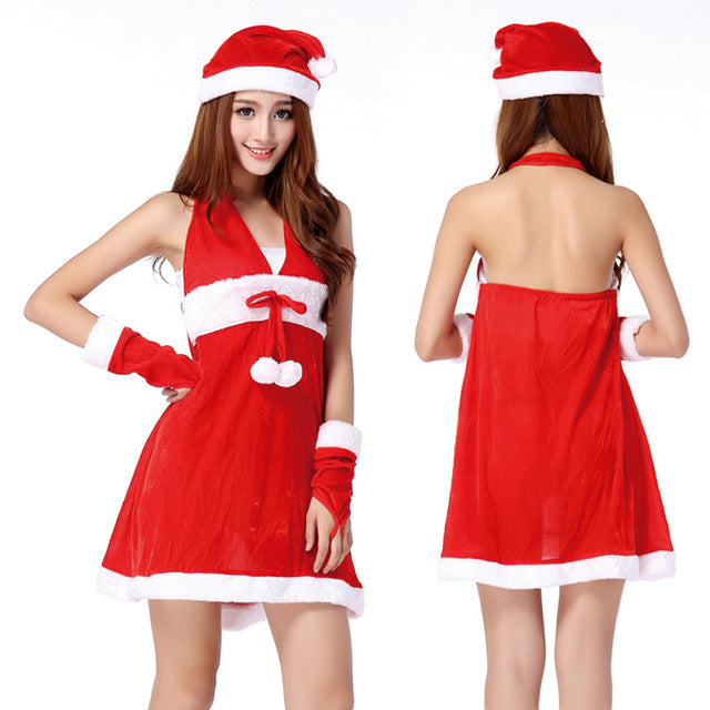 e876ad54ae78 NewNew Coming Lovely Women Sexy Santa Christmas Costume Fancy Dress Xmas  Office Party Outfit red short dress vestido de festa
