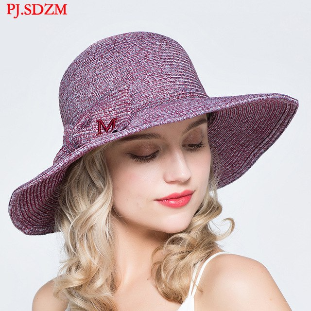 52a123d1f Summer Sun Protection Uv Protection Sun Hats Women Cool Straw Hats Ladies  Travel Hat