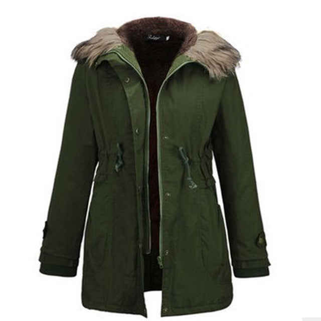 9729ec3ad Plus Size Clothes Women 2018 Popular Winter Jacket Women Coats Solid Thick  Slim Hooded Casual Women's Parkas