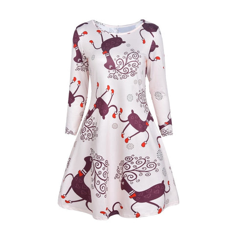 ... Long Sleeve Santa Outfit Christmas Cozy Flared Dress Winter clothes  vestidos mujer. from  32.70 33cfba432