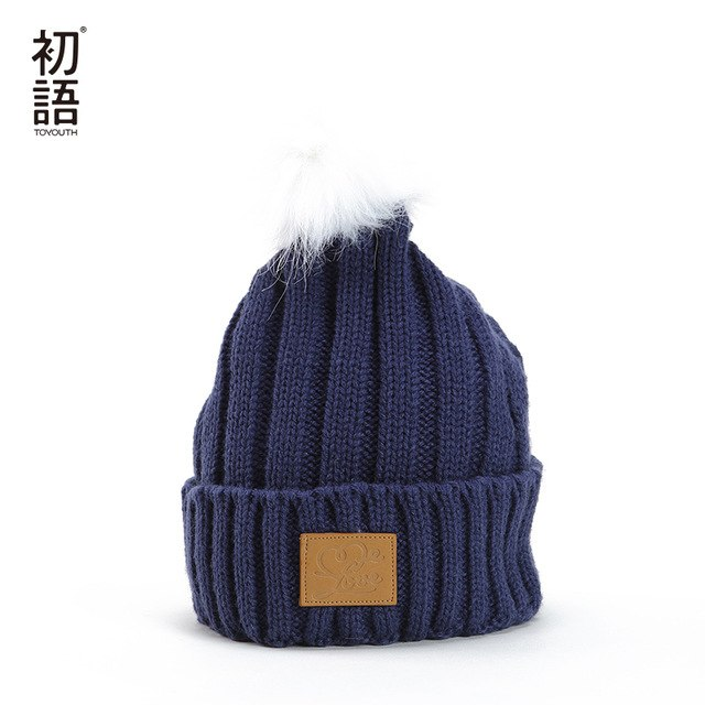 b7c68ddfe82aa Solid Hats S Fashionable Winter Hats Warm Casual Soft Hats Knitted Ladies  Caps Knitted Funny Hat