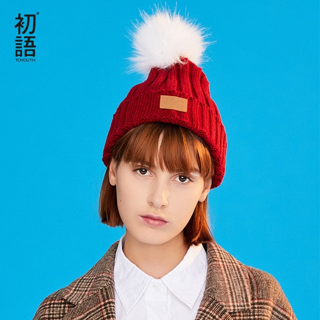 0d4840534d9 Solid Hats S Fashionable Winter Hats Warm Casual Soft Hats Knitted Ladies  Caps Knitted Funny Hat
