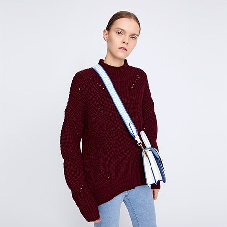722dbf0bc9b60 Solid Women S Jumper Turtleneck Sweaters Knitted Oversize Sweater Hollow  Casual Long Sleeve Pullovers Tops.  60.51