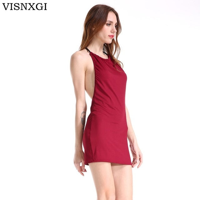812574888db Visnxgi Backless Summer Dress 2019 Slim Short Pencil Bandage Club Party  Dresses Casual Beach Mini Bodycon Dress Vestidos