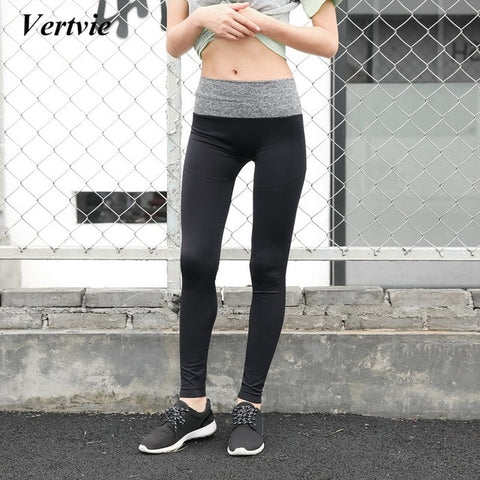 8e43acf6d419 Sports Yoga Pants Fitness Outdoor Quick-Drying Sweat Splice Tight Running  Leggings Women Workout Yoga ...