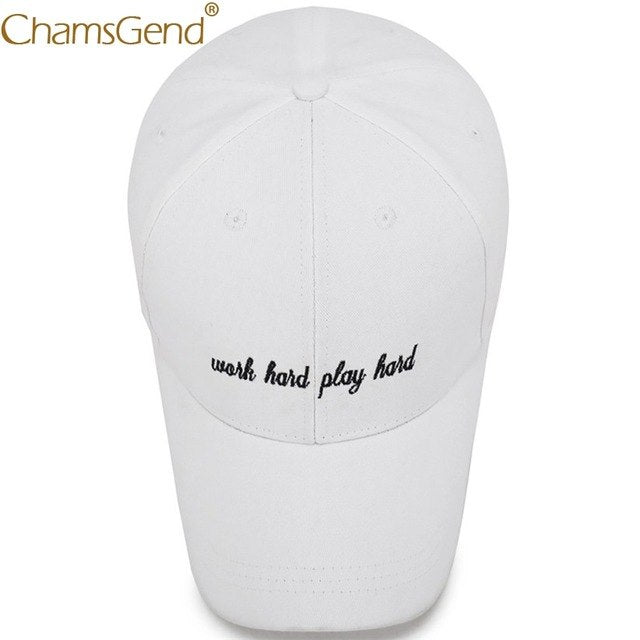 72489b94f37b64 Work Hard Play Hard Embroidery Letter Baseball Caps Unisex Summer Dad Hat  Snapback Hip Hop Summer Visors Hats 90214