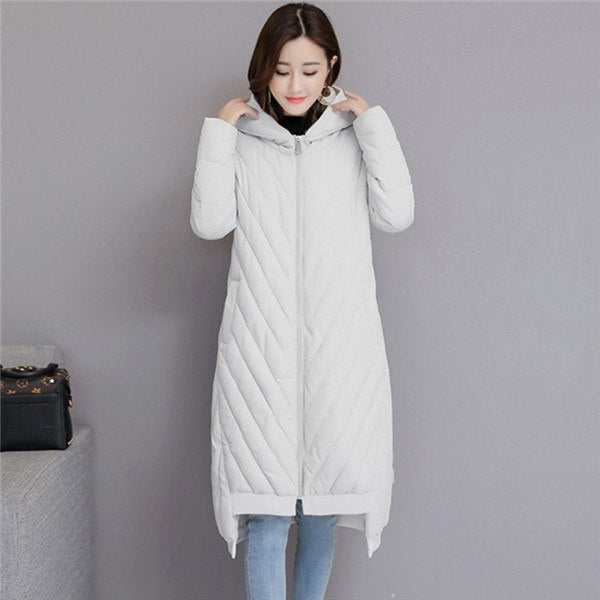 d98c9615e Winter Jacket Women Coats Plus Size Female Parka Hooded Loose Thick Cotton  Padded Jacket Women Clothing Long Down Cotton Jacket