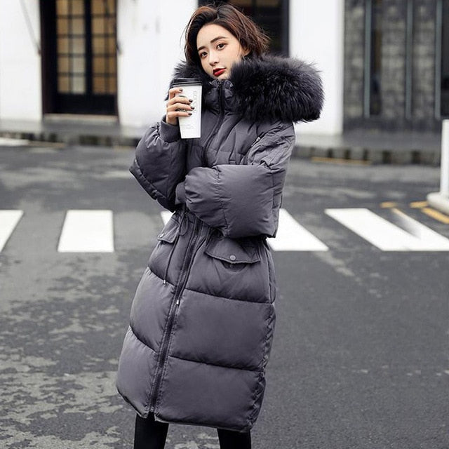 db52a64272 Winter Jacket Women Plus Size Long Slim Thick Parkas For Female Women's  Winter Jackets And Coats Hooded Real Raccoon Fur Parka