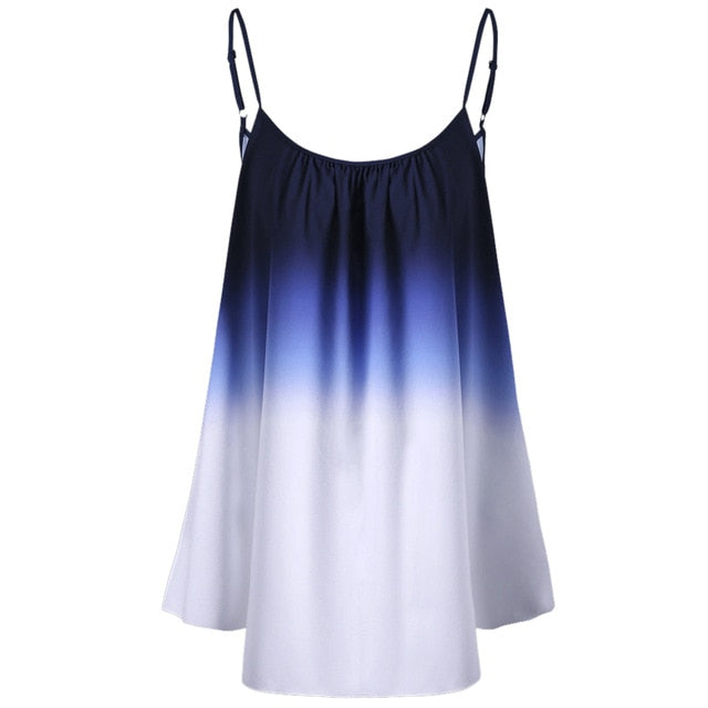 cae566d113f Plus Size 5Xl Women Clothing Ombre Print Cami Top Tie Dye Camisole Summer  Sleeveless Beach Vest