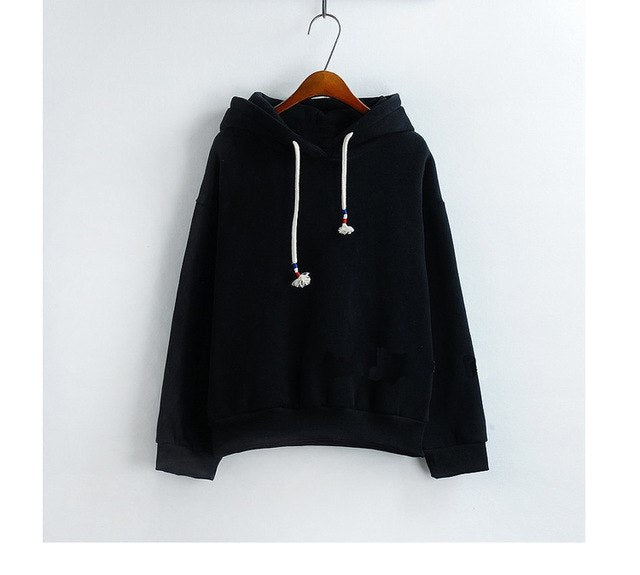 d3a1d4c154a91 Women Hoodies Sweatshirts New Hot Sale Candy 10 Color Long Sleeved Thick  Casual All-match Solid Leisure Hooded Hoodie Loose Tops