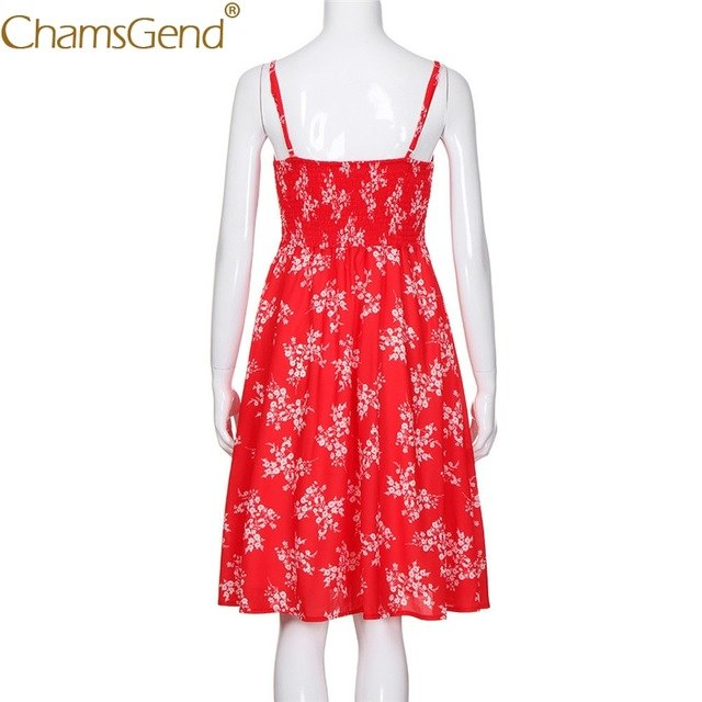 3727d8457d85b Women Red Summer Dress Deep V Strappy Knee-Length Beach Party Dresses Lady  Tunic Slim Vestidos Woman Clothes 90123