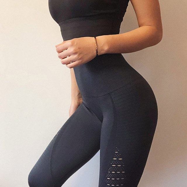 b8233db1020ad Women Seamless Knitted Yoga Pants Squat Proof Sport Pants Compression  Workout Leggings Tummy Control Fitness Gym