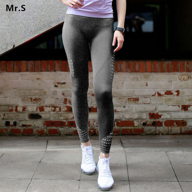 f8e0fa0b8230a6 Women Seamless Knitted Yoga Pants Squat Proof Sport Pants Compression  Workout Leggings Tummy Control Fitness Gym
