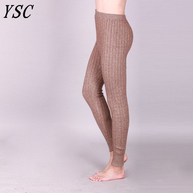 bf33e4930744b Men 'S Cashmere Wool Warm Pants Knitted Long Johns Spandex Tights Trousers  Underwear 3