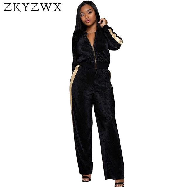 Velour Tracksuit Women Matching Sets Velvet Two Piece Set Tops and Pants  Suits Casual Autumn Winter fc5eeab3ed13