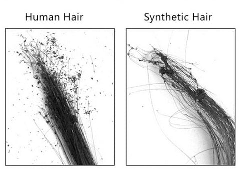 synthetic hair vs human hair smoke test