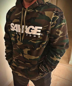 Savage Customs Unisex Signature Camo Hoodie