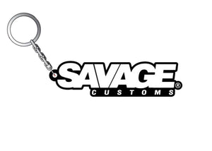 Savage Customs 3D Rubber Keyring